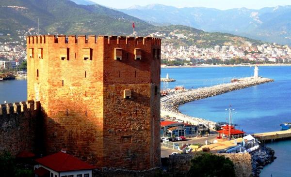 Город Аланья - достопримечательность Кызыл Куле (Красная башня)