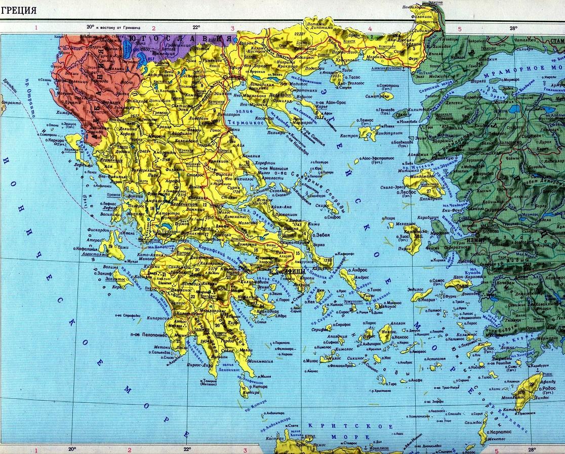 Полуостров на котором находится греция