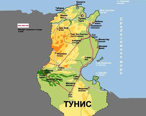 Тунис где находится что за страна