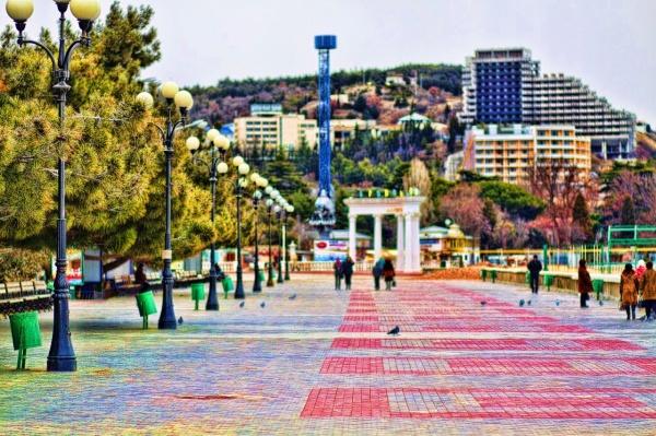 Алушта, Центральная набережная