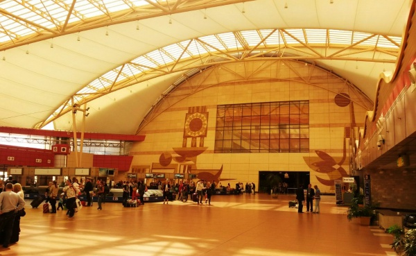 Небольшой и удобный аэропорт в Шарме