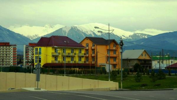 остевой дом отдыха в Адлере, живописные горы