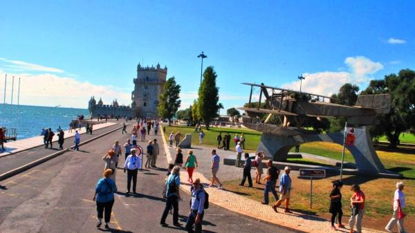 Набережная Лиссабона в Португалии