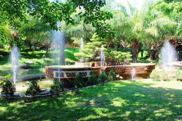 Фонтан HON TAM ECO GREEN в парке во Вьетнаме