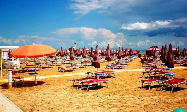 Пляж Лидо-ди-Езоло в Италии