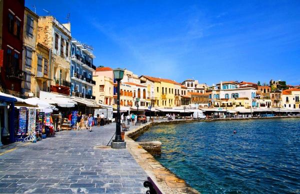 курорт Ханья, венецианская набережная на Эгейском море