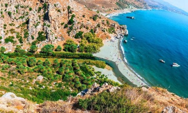 Пляж Превели на острове Крит