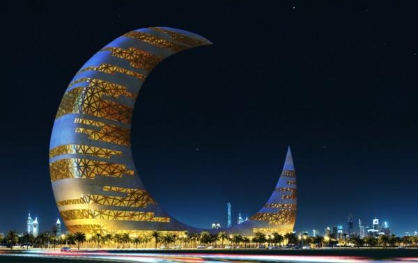 Небоскреб-полумесяц, Дубай, ОАЭ