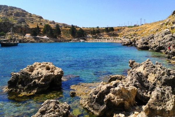 Греция, остров Родос, бухта апостола Павла