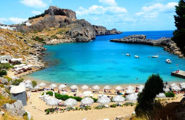 Греция, остров Родос, Бухта апостола Павла и его пляж