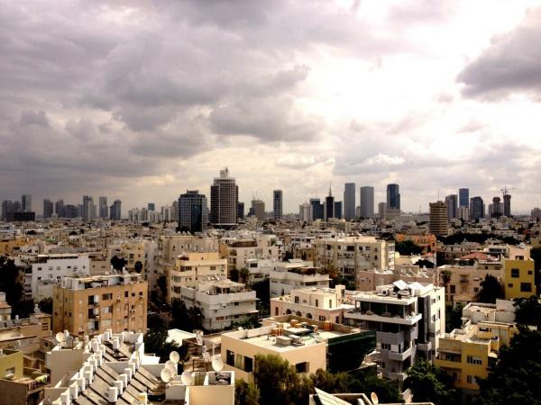 Яркий город Тель-Авив, Израиль