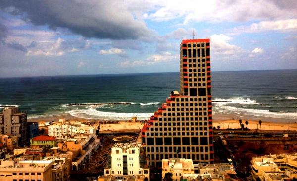 Вид на Средиземное море, Израиль