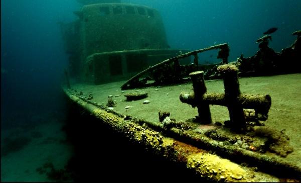 Эйлатский залив, затопленный корабль, Израиль