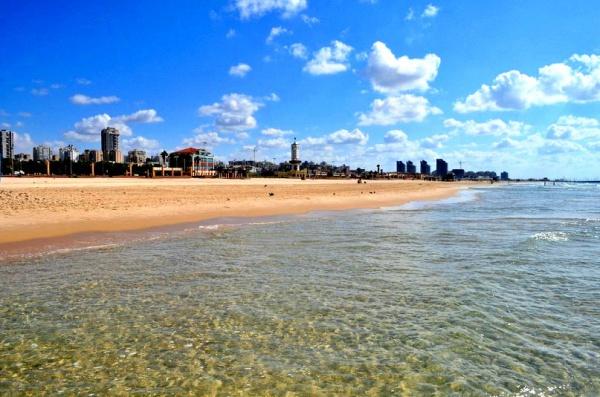 Пляж в Ашдоде, Израиль