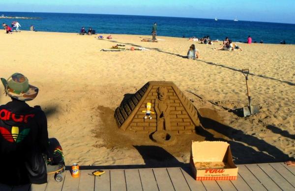 Пляжей Нова Икария в Барселоне