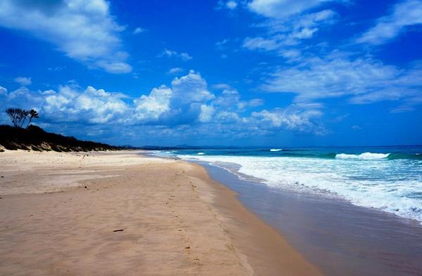 Австралия и один из его диких пляжей на побережье Тихого океана