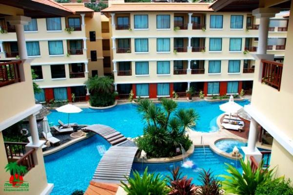 Территория одного из отелей, курорт Пхукет