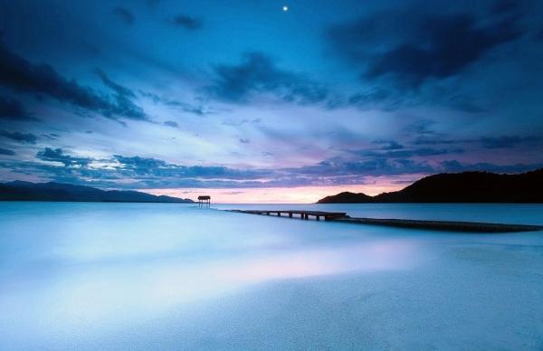 Рассвет на пляже в Кубе