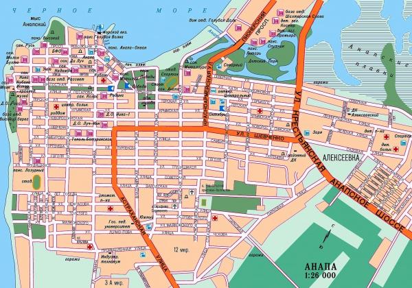 Карта городов и курортов