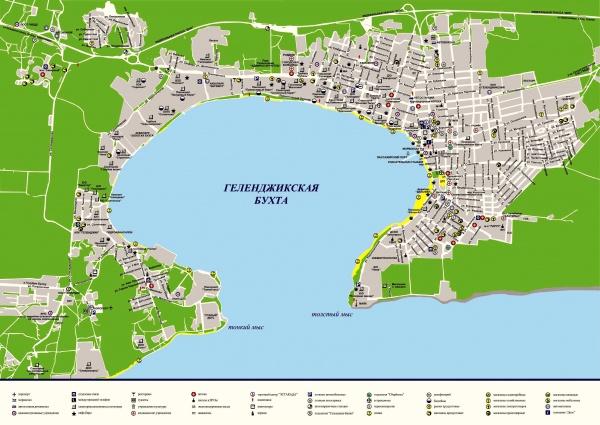 Подробная карта города Геленджик