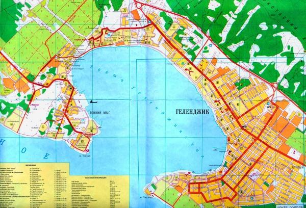 Карта побережья чёрного моря