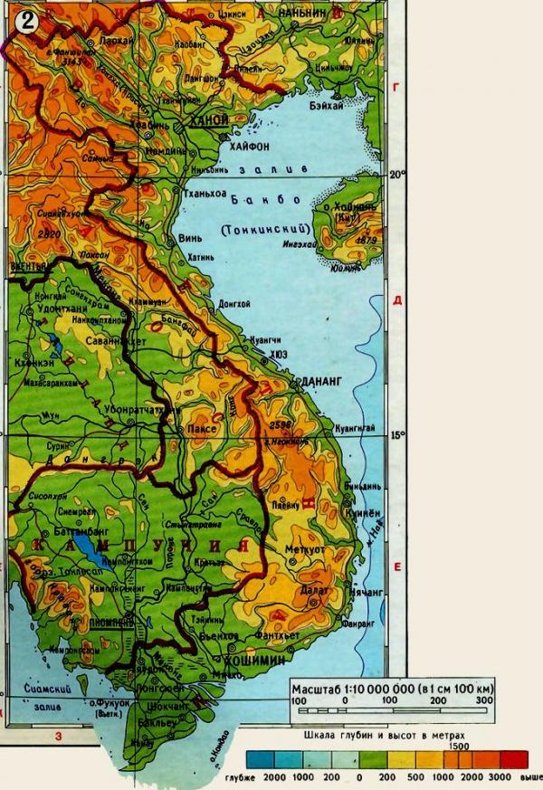 Карта с курортами