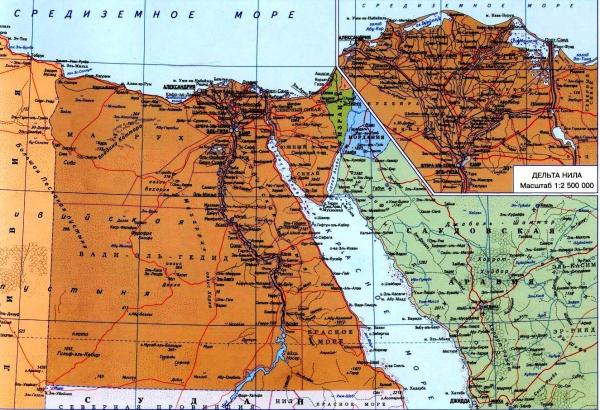 Карта курортов и городов Египта