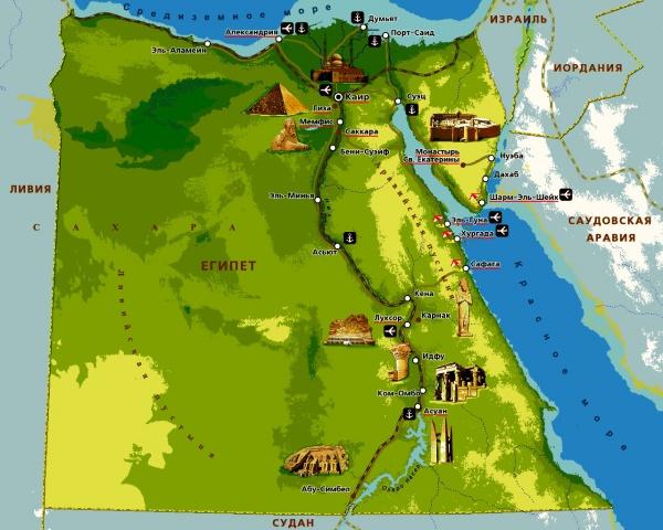 Карта побережья Красного моря