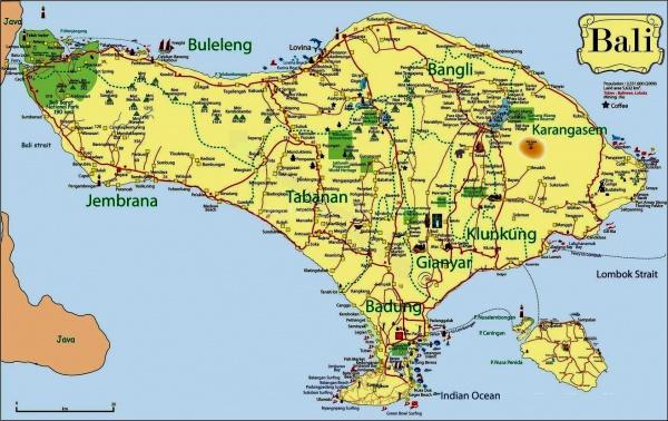 Карта городов и достопримечательностей