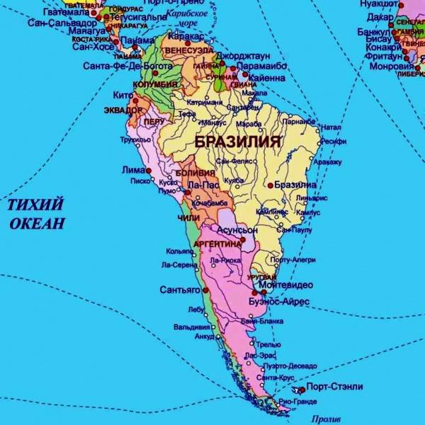 Подробная прибрежная карта