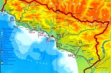 Подробная карта Абхазии