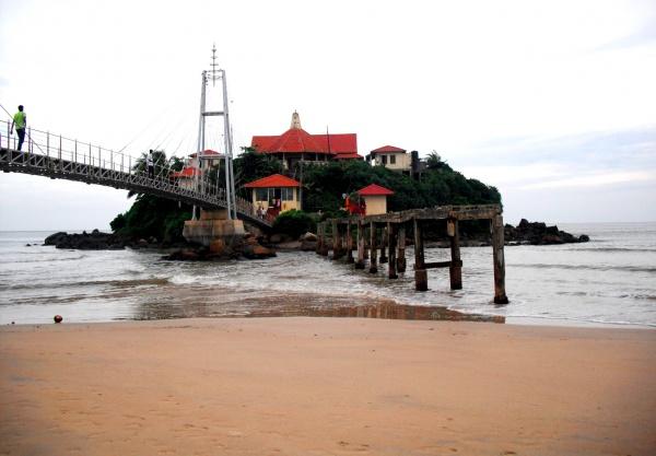 Курорт Матара зимой на юге Шри-Ланки