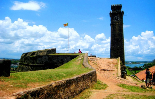 Порт на курорте Галле в Шри Ланке