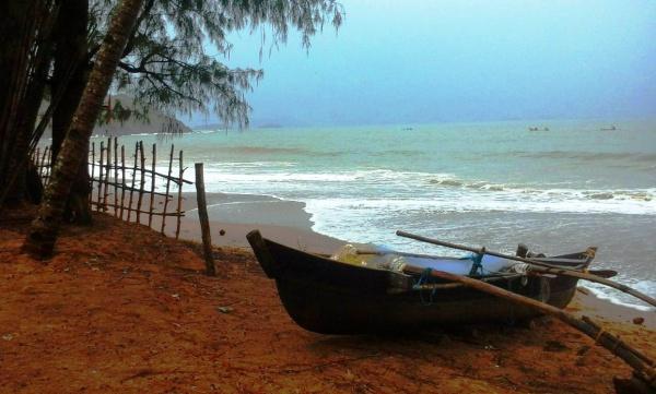Самый южный пляж Гоа - это Палолем