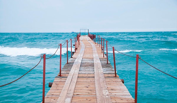 Красивое море и не многолюдные пляжи в Витязево