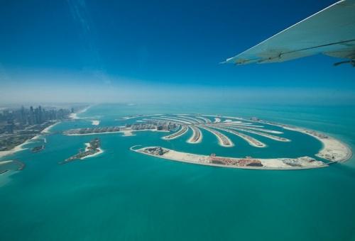 Вид на Дубай с самолета