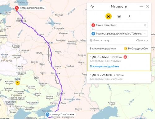 На машине из Петербурга до станицы Голубицкой