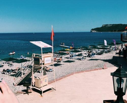 Пляж в отеле Grand Haber Hotel 5*