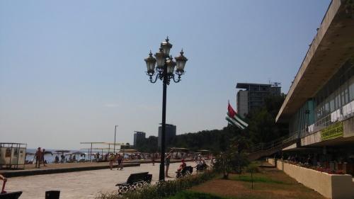 Главный пляж Пицунды